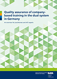 Quality assurance of company-based training in the dual system in Germany