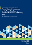 Annual Research Programme of the Federal Institute for Vocational Education and Training 2018