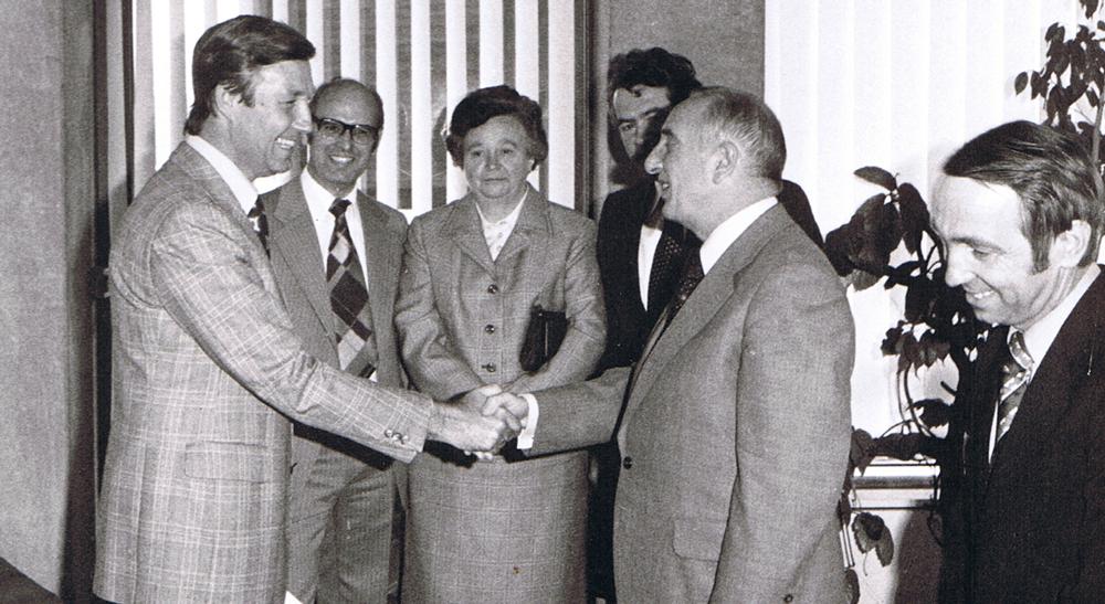Juli 1977: Der neue Generalsekretär Dr. Hermann Schmidt