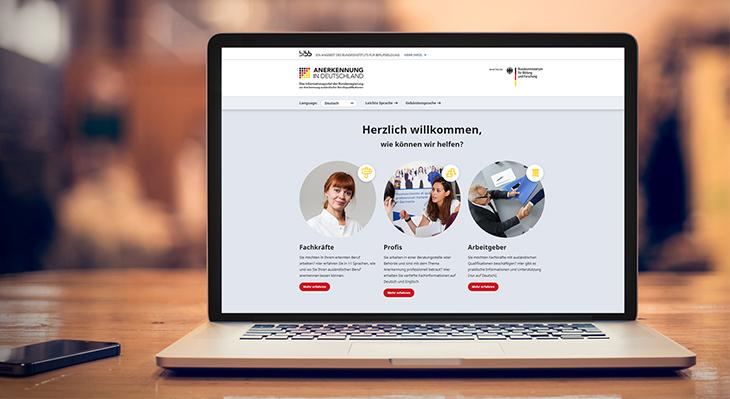 """BIBB-Portal """"Anerkennung in Deutschland"""" weitet Online-Angebot aus"""