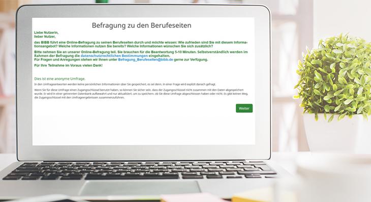 Online-Befragung zu den BIBB-Berufeseiten