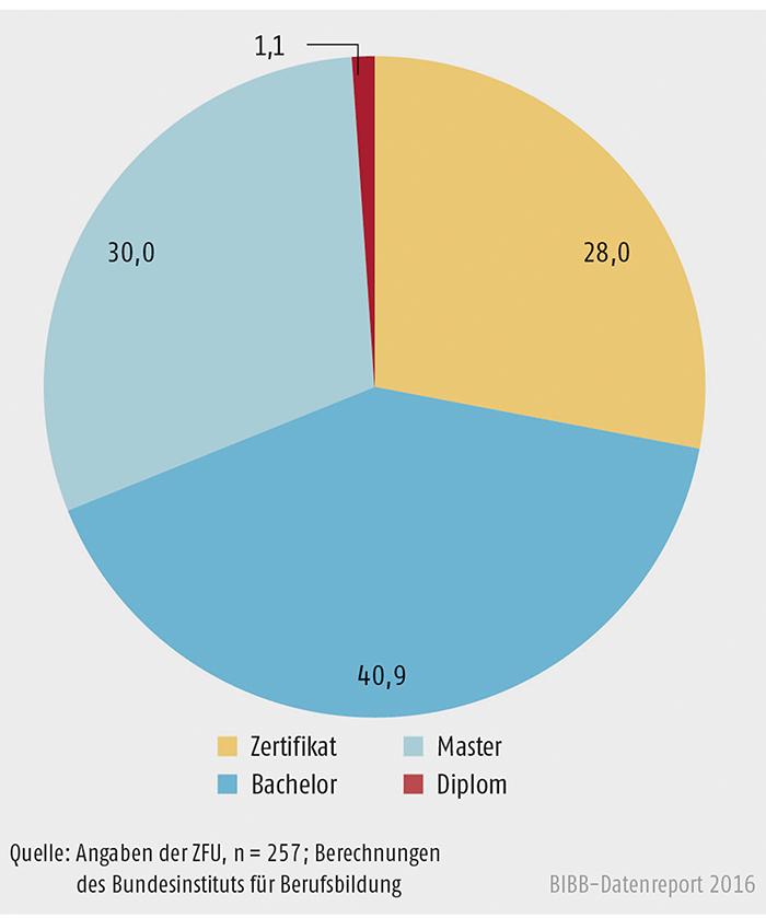 Schaubild B2.3-3: Staatlich zugelassene, privatwirtschaftliche Hochschulabschlüsse (in %)