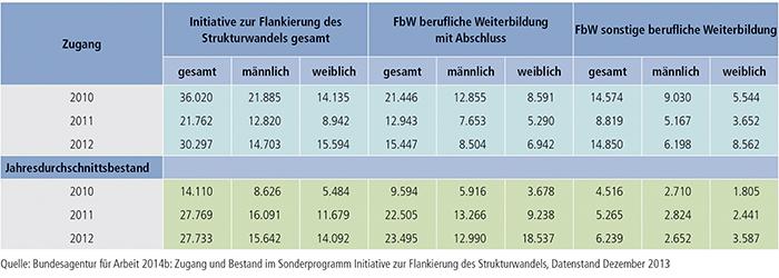 Tabelle B3.1-4: Initiative zur Flankierung des Strukturwandels