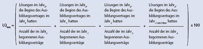 Formel: Lösungsquote nach dem Schichtenmodell