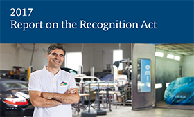 The 2017 Report on the Recognition Act is now available in English
