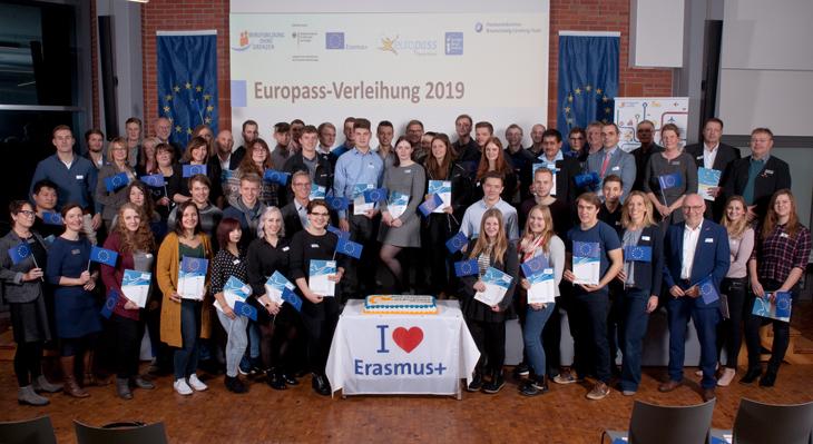 Verleihung des 300.000sten Europass Mobilität