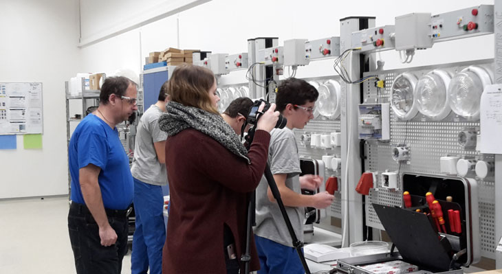 Trainees filming Dual VET in four countries (DE, GR, IT, RU)