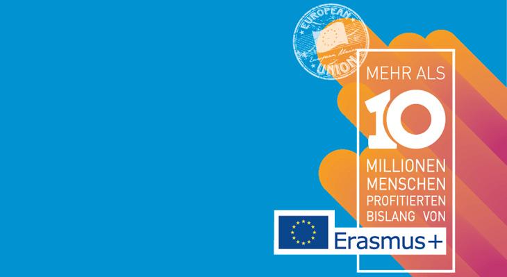 Mehr als 10 Millionen Erasmus+-Teilnehmende