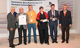 v.l.n.r. W. Arndt Bertelsmann, Werner Heitz, Frederik Röhl, Margrit Zauner, Dr. Dirk Schwenzer, Prof. Dr. Friedrich Hubert Esser
