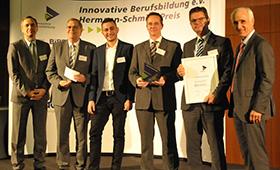 Gruppenbild der Gewinner der Bauindustrie