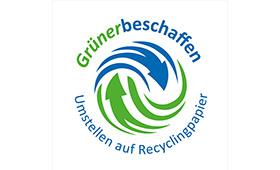 Einsatz von Recycling-Papier