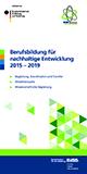 Programmbroschüre Berufsbildung für nachhaltige Entwicklung 2015-2019