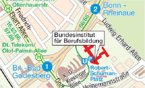Karte: Anfahrtsplan BIBB